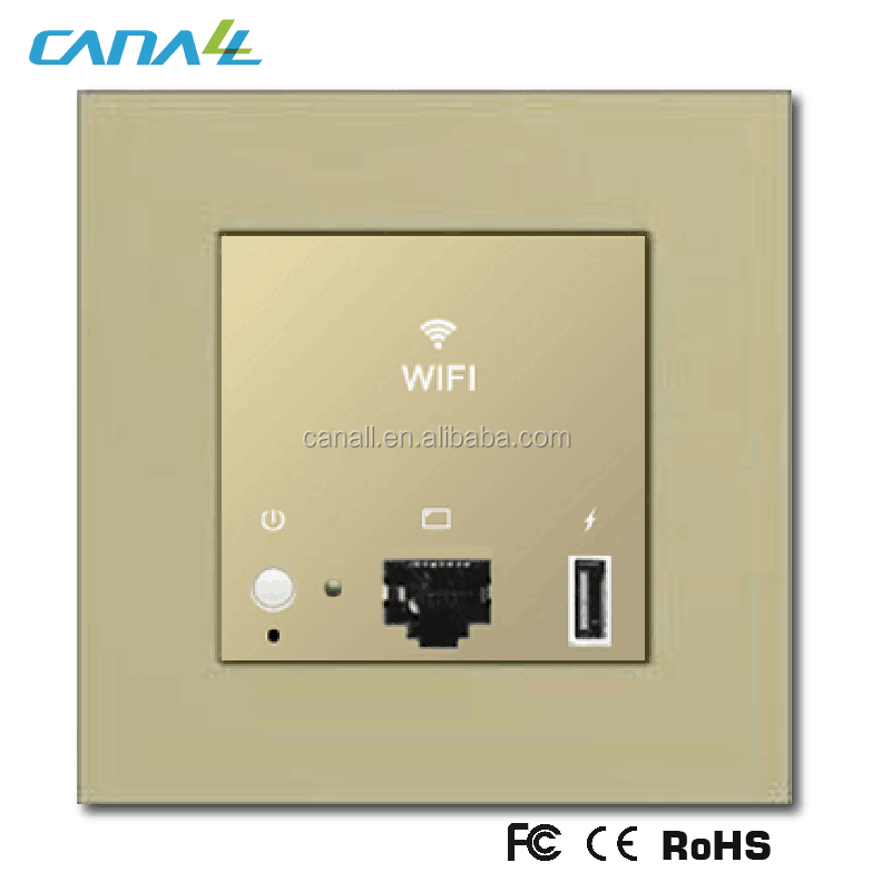 wall-mounted USB port Poe wireless access point APwith 5V/1A for Hotel/home/restuarant
