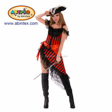 Pirate costume (14-101) as sexy Pirate captain lady costume