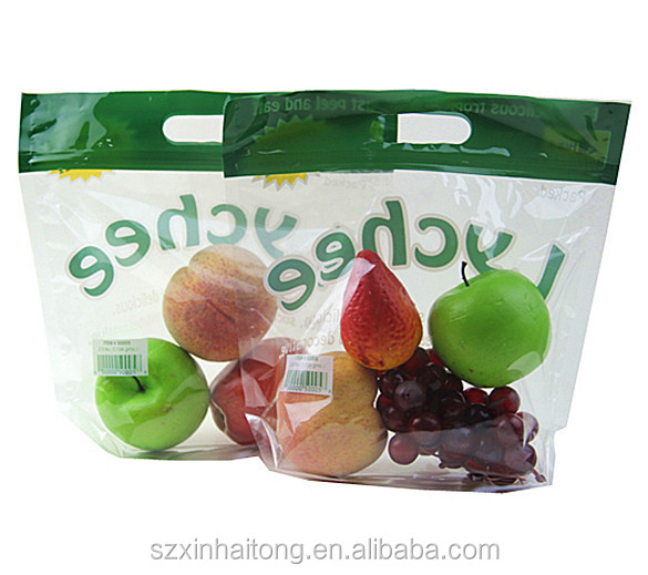 PET/CPP fresh fruit vegetables packaging plastic bag/BOPP/CPP laminated plastic bag for fresh fruit and vegetable