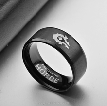 Stainless Steel Mens Ring WOW Horde Alliance Ring