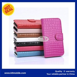 KLT- Best Quality Wallet PU Leather Flip Cover Smart Cell Phone Case For Oneplus One