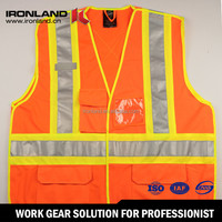2015 New arrival 100% Polyester tricot work safety vest