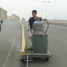 Manual Thermoplastic Road Marking Paint Machine with Booster Vehicle