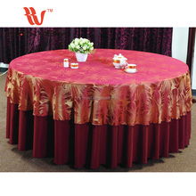 High quality cheap hand embroidery designs 120 round white clips embroidered tablecloth