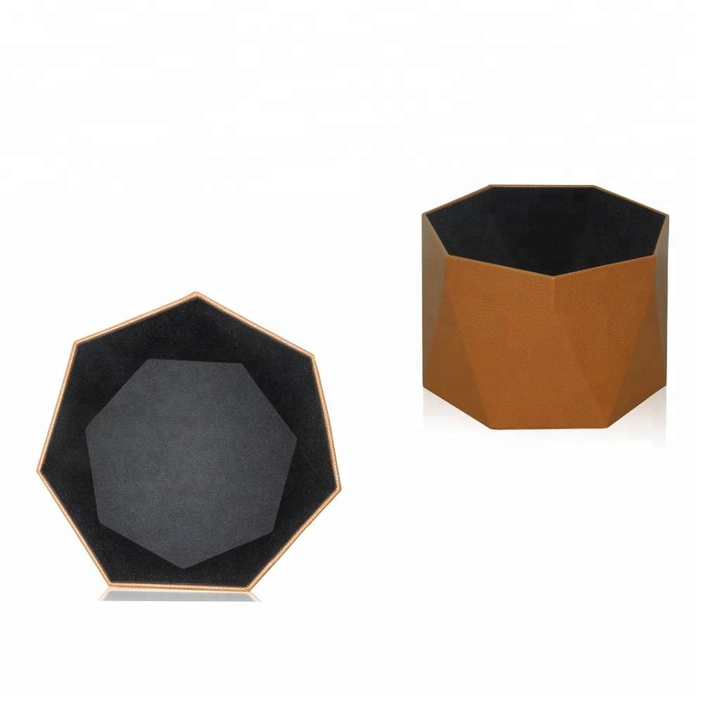 Fashion Leather Trash Bin in Office/Home/Hotel