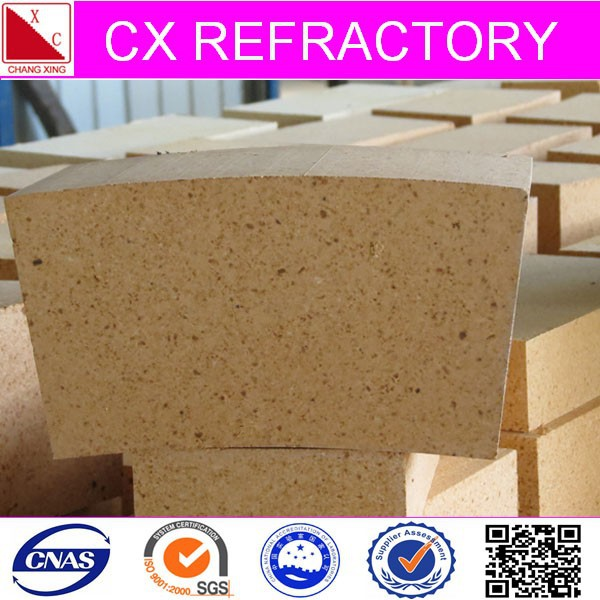 high alumina curved fire brick for oven
