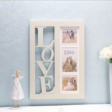 2017New design love letter table wood photo frame with paint