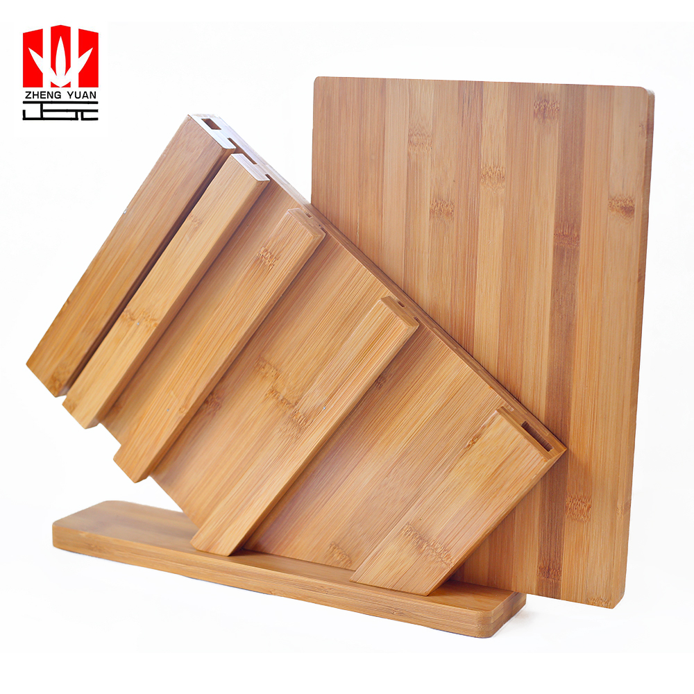 China natural solid bamboo cutting board set for kitchen use
