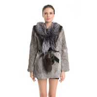 QD70725 Woman Clothes Cheap Rabbit Fur