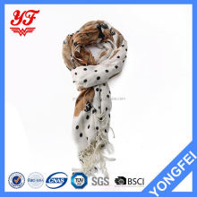 Competitive price fashion keep warm fancy women muslim head scarf