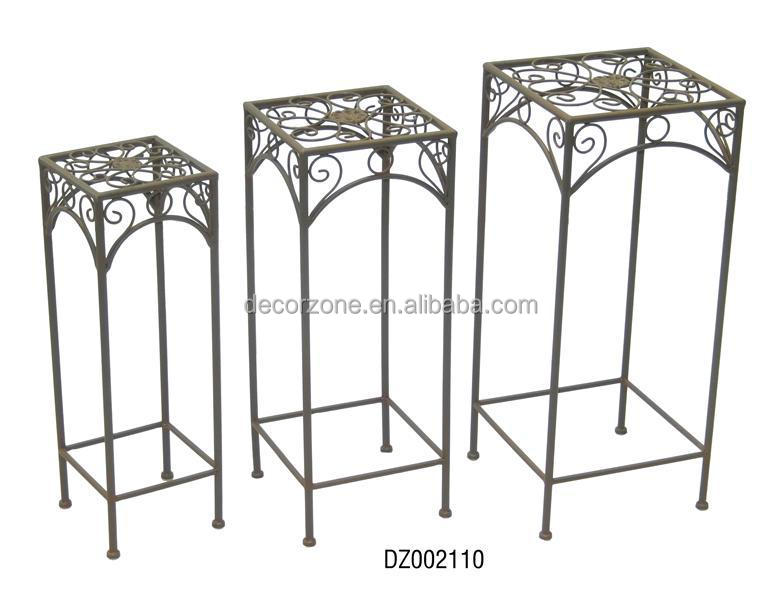 Hot Sale Of Nesting Metal Garden square and round Plant Stand