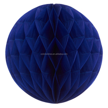 Wholesale Royal Blue Paper Honeycomb Balls Hanging Wedding Party Decorations