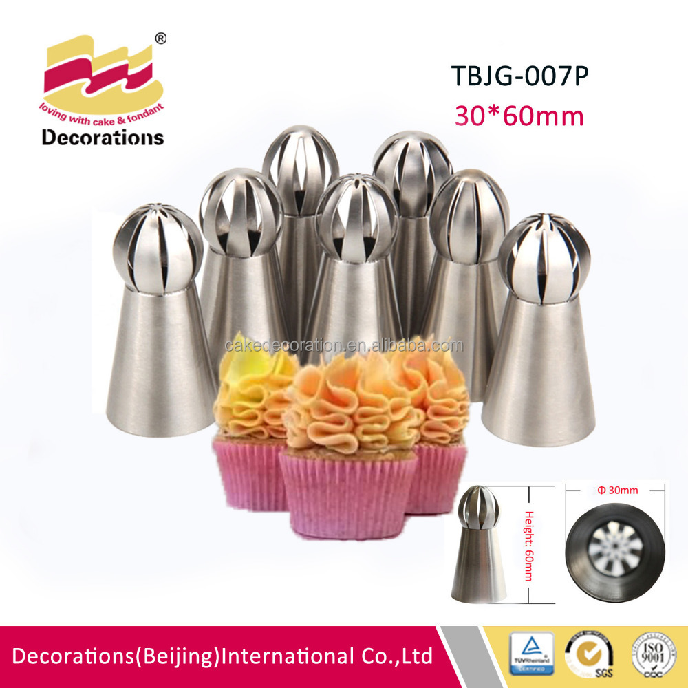 304 s/s russian shpere ball Icing piping Nozzles Decorating Cakes and Cake Decorating Pastry Tips