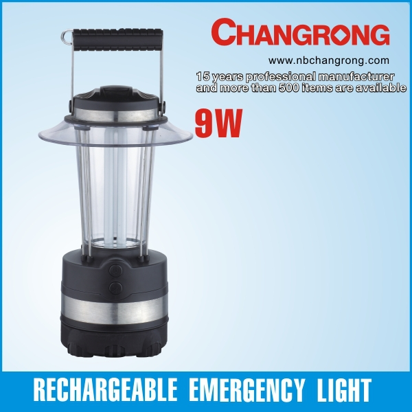 9w fluorescent tube emergency rechargeable cfl lantern