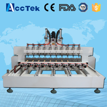 Acctek multi head wood drilling machine with rotary device for cylinder