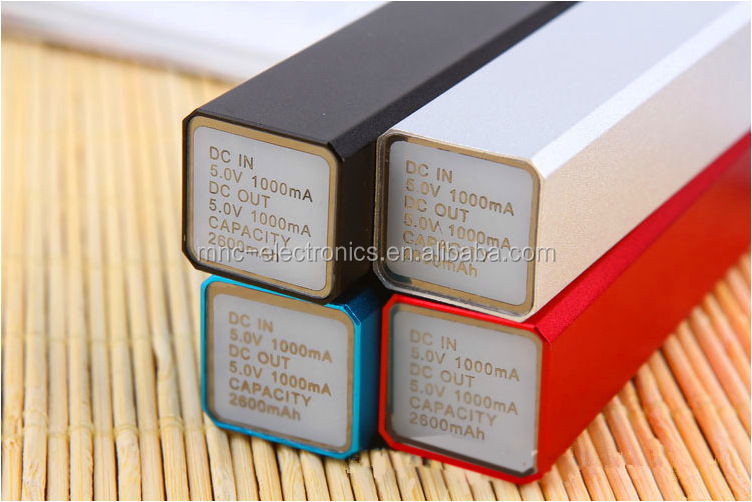 Best promotional gift square cube shape aluminium power bank 2200mah with custom logo printing and optional capacity