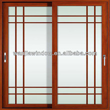 frosted glass aluminum sliding door for bathroom