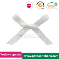 Wholesale Satin Ribbon Bow ,Pre-made Ribbon Bow,White Mini Lingeries Bows For Bra Decoration