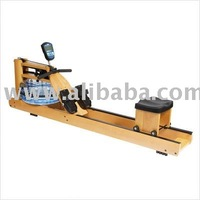 PhysioCycle Seattle Wooden Rower - Water Rowing Machine