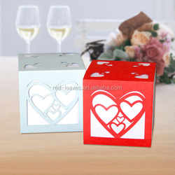 Paper craft laser cut heart shaped candy boxes cute sweet cosmetic fancy paper acrylic indian sweet gift packaging box
