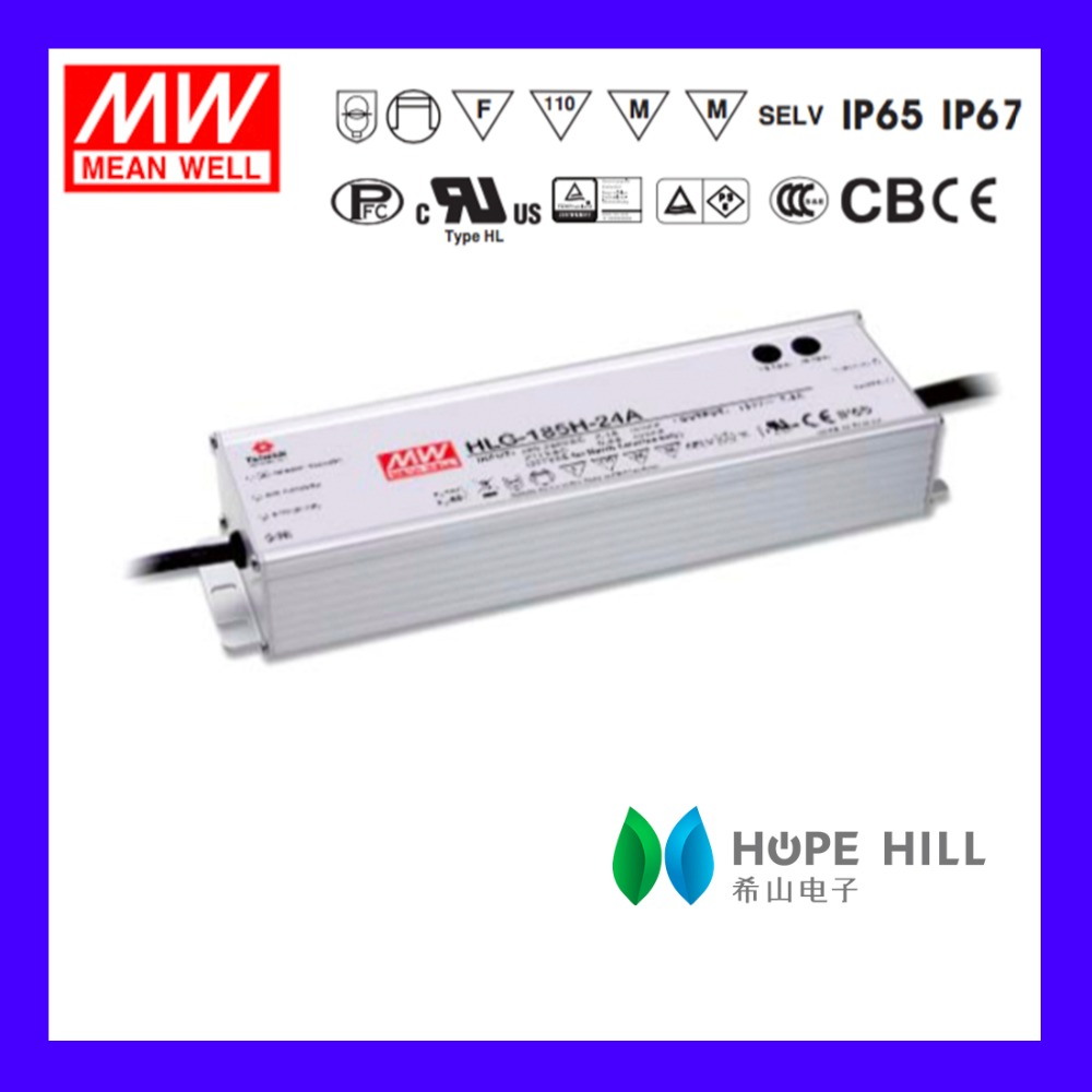 Original MEAN WELL HLG-185H-12 MODEL 12V Dimming waterproof Christmas light LED driver power supply