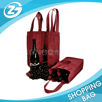 Custom Personalized Non-woven Gift Can Bottle Packing Wine Carrier Tote Bag