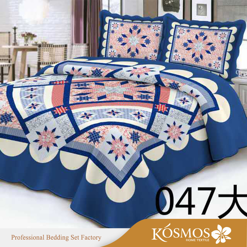 Queen size microfiber printed Turkish Bedspread mandala Bed Cover Set