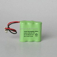 2/3AA 280mah Rechargeable 3.6V Ni-MH Battery Pack for Electric bicycles