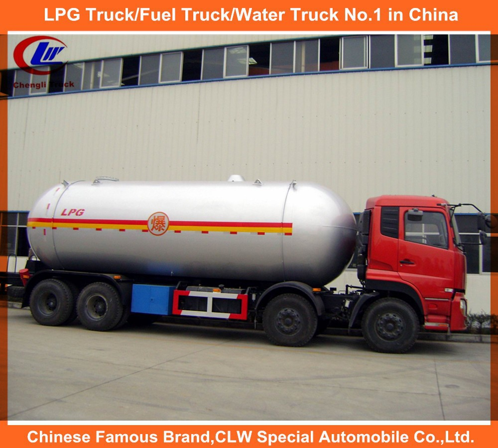 Dongfeng 12 wheel LPG Transportation Truck with 8x4 Driving Model