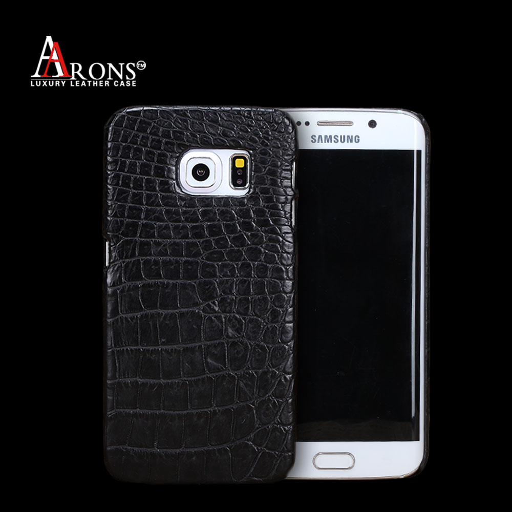 Genuine leather crocodile patter cover case for samsung s6