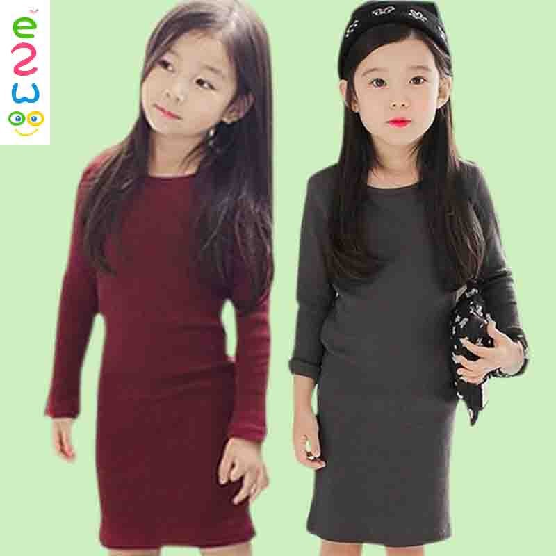 Wholesale Winter Frock Design Baby Fashion Girl Wool Dress