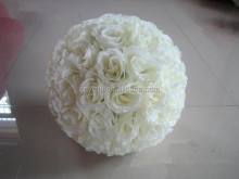 wholesale white silk wedding rose balls Floor Type Hanging Artificial Flower rose Ball