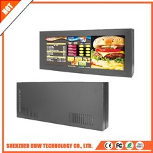 Factory price 74W lcd tv Stretched advertising wall film video media display full 1080p hd player