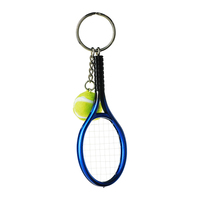 3D hot sale souvenir tennis ball keychain custome fashionable PVC Key ring