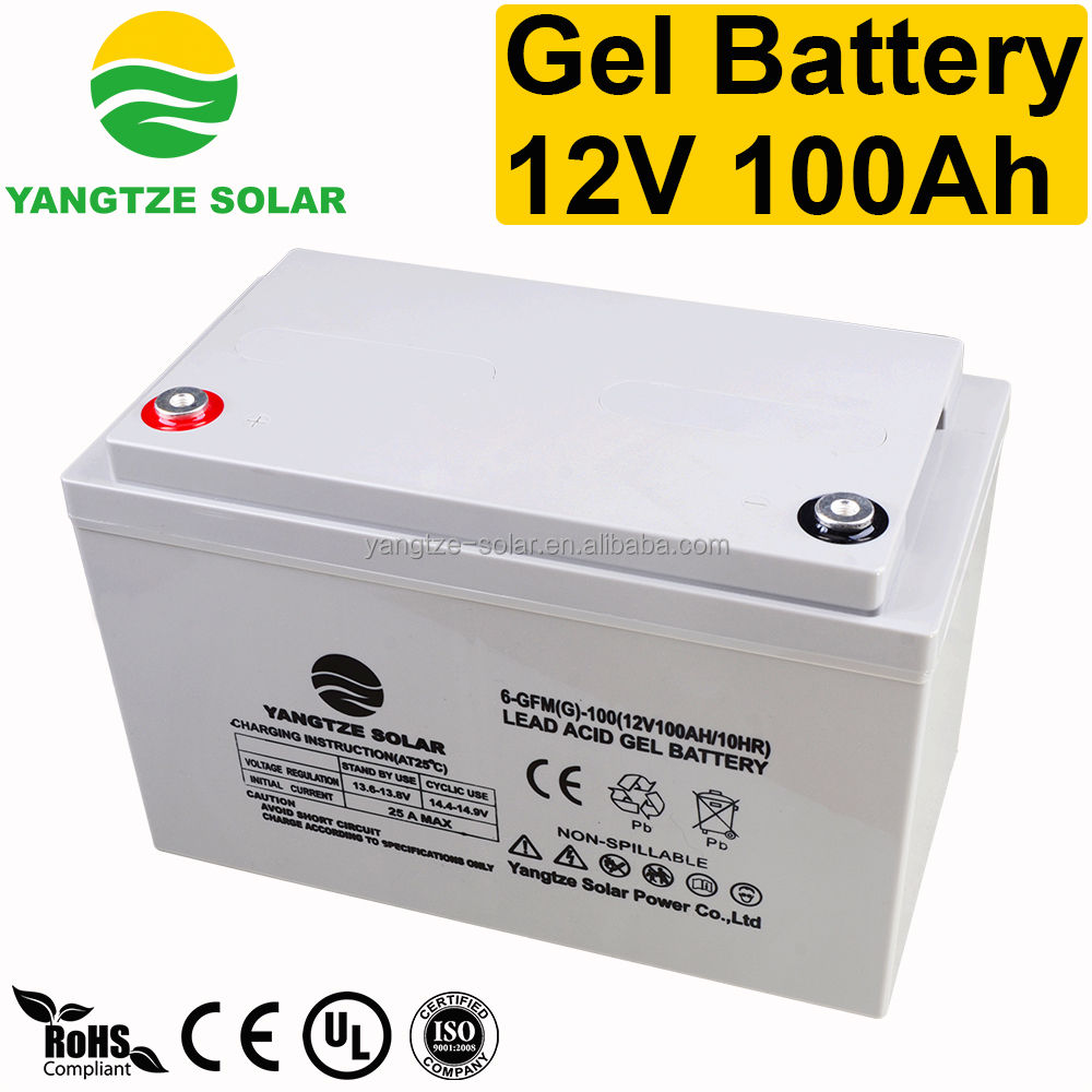 Deep cycle discharge 12v 100ah lead acid battery