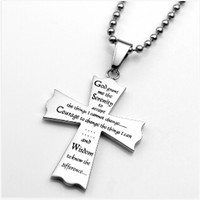 Yiwu Aceon Stainless Steel engraved Christian Jewelry Serenity Prayer Dog Tag