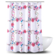 Eco-friendly OEM Custom Printed 100% Polyester Shower Curtain