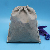 Jute drawstring bags for coffee beans, reusable folding shopping bag
