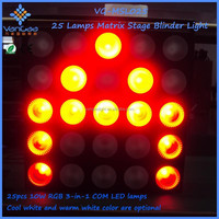 CE and RoSH Approval RGB 3in1 25 heads LED Matrix light led blinder light/25 heads RGB led matrix