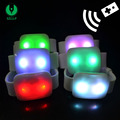 Remote Controlled 15 Color Changing LED Wrist Band, LED Glow Wristband With Light