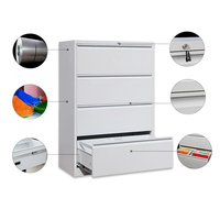 OEM Archiver 4 drawers off - white lateral filing cabinet