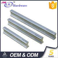 Modern silvery white aluminium profile cabinet handles