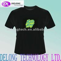 fashion flashing el animated panel t shirt