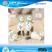 Christmas Resin Santa Claus Snowman Figurines