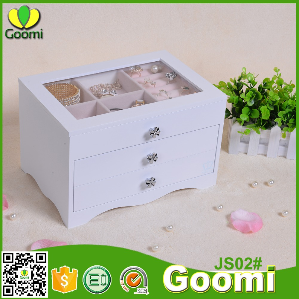 Goomi Storage Box For Jewellery JS02# E0 E1 MDF Wooden jewelry box pakistan