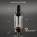 Youngjune 2016 teslacigs shadow tank well crown sub ohm tank with replaceable glass tube