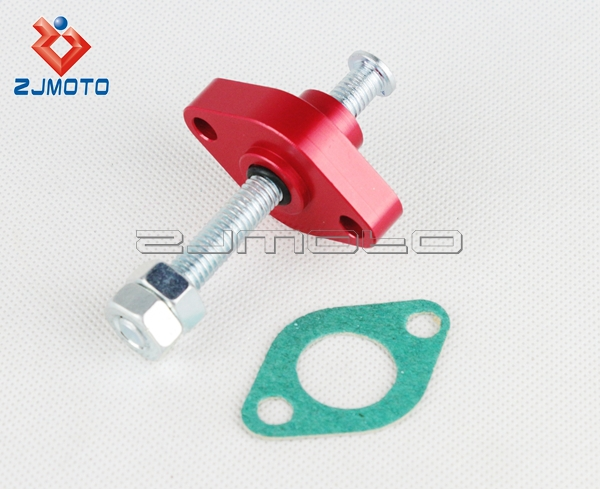 Aluminum Alloy Motorcycle Chain Tensioner Red Cam Tensioner For Street Yamaha Off Raod ATV Applications