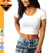Slim Fit Blank Crop Tops Wholesale Cheap for women