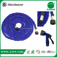 100FT garden stretch hose PVC Expandable Garden hose with blue color as seen on TV