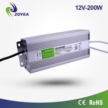 200w 12v IP67 waterproof electronic led driver 24vdc power supply for outdoor christmas light